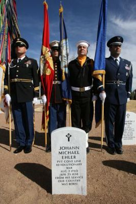 Honor Guard at tombstone